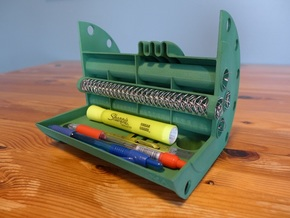 Shell and Tube Heat Exchanger Pen Holder in Green Strong & Flexible Polished