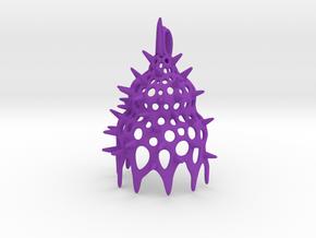 Calocyclas Radiolarian pendant in Purple Processed Versatile Plastic