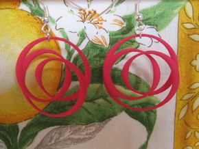Coil 2 3 1 Earrings in Pink Processed Versatile Plastic