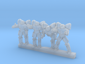 Shield Troopers 10mm in Smooth Fine Detail Plastic