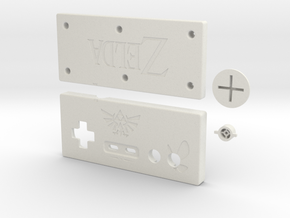 Zelda-style NES-controller in White Strong & Flexible