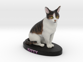 Custom Cat FIgurine - Kitty in Full Color Sandstone