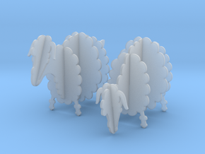 Wooden Sheep 1:24 in Smooth Fine Detail Plastic
