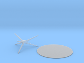Mid-Century Round Coffee Table (2 pieces) 1:48 in Smooth Fine Detail Plastic