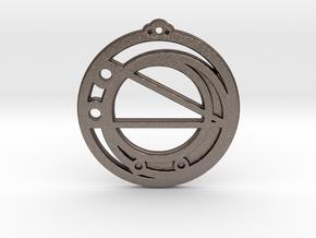 Virgo in Polished Bronzed Silver Steel