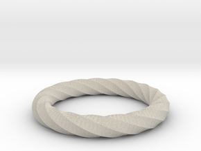 Twisted Ring in Natural Sandstone