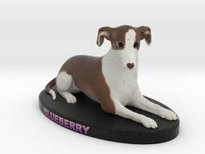 Custom Dog Figurine - Blueberry in Full Color Sandstone