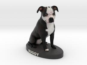 Custom Dog Figurine - Buggy in Full Color Sandstone