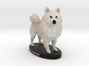Custom Dog Figurine - Casper in Full Color Sandstone