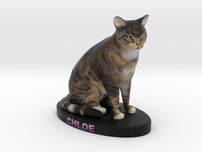 Custom Cat Figurine - Chloe in Full Color Sandstone