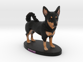 Custom Dog Figurine - Xochi in Full Color Sandstone