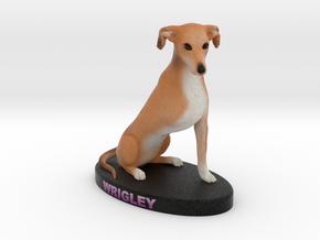 Custom Dog Figurine - Wrigley in Full Color Sandstone
