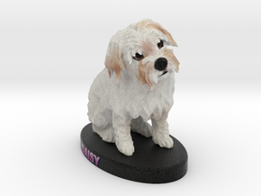 Custom Dog Figurine - Daisy in Full Color Sandstone