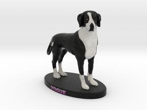 Custom Dog Figurine - Vogue in Full Color Sandstone