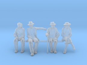 1:64 scale 4 figure pack seated Noir in Smoothest Fine Detail Plastic