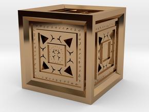 Strange Cube in Polished Brass