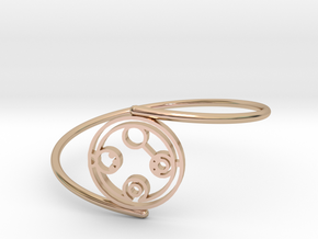 Belinda - Bracelet Thin Spiral in 14k Rose Gold Plated Brass