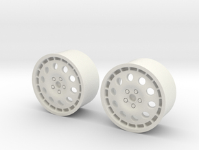 Rims For Lancia Delta S4 Scale 1-10  in White Natural Versatile Plastic