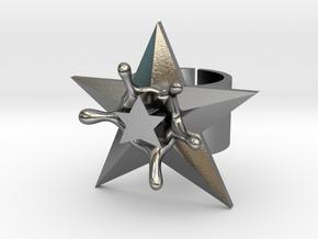 StarSplash statement ring size 6 US open design in Polished Silver
