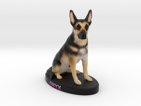 Custom Dog Figurine - Onyx in Full Color Sandstone