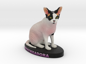 Custom Cat Figurine - Sphynxadora in Full Color Sandstone