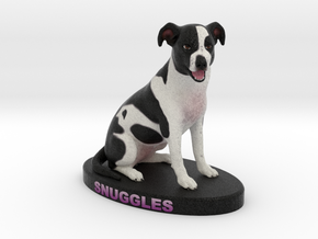 Custom Dog Figurine - Snuggles in Full Color Sandstone