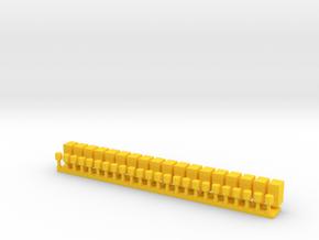 Gele Kastjes Langs Het Spoor in Yellow Processed Versatile Plastic
