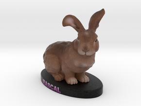 Custom Rabbit Figurine - Rascal in Full Color Sandstone