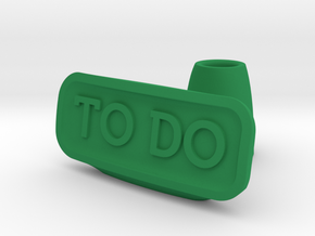 To Do list holder in Green Strong & Flexible Polished