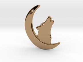 WolfMoon Earring in Polished Brass