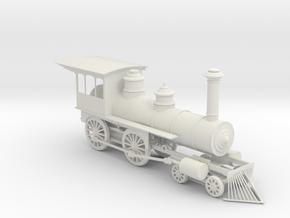 LOV010 American standard locomotive 4-4-0 1:48 28m in White Natural Versatile Plastic