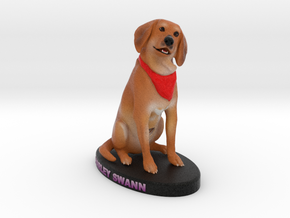 Custom Dog Figurine - Harley in Full Color Sandstone