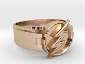 Flash Ring Size 10.5, 20.20mm in 14k Rose Gold