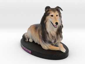 Custom Dog Figurine - Doogin in Full Color Sandstone