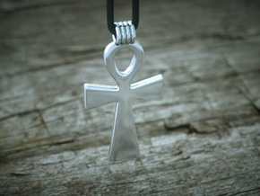 Ankh Pendant in Polished Silver
