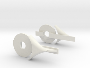 Rear Aero Kit in White Natural Versatile Plastic