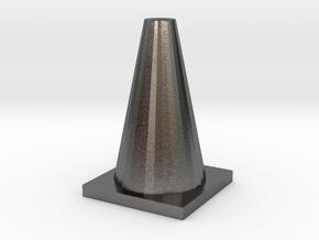 TrafficConeShapeways in Polished Nickel Steel