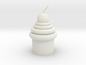 Mirror Cupcake in White Natural Versatile Plastic