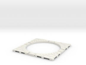 T-165-wagon-turntable-84d-100-corners-giant-1a in White Natural Versatile Plastic