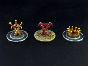 CitOW tokens (26 pcs) - crown, sword, triangle in White Strong & Flexible