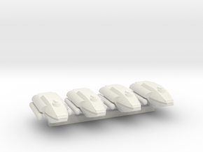 System Fleet Commercial Transports in White Natural Versatile Plastic