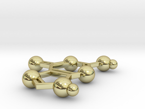 Guanine in 18k Gold Plated Brass