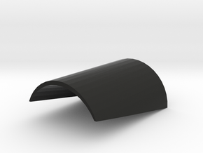 Cylindrical Wedge Spacer in Black Natural Versatile Plastic