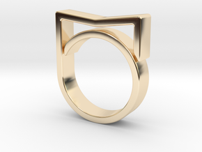 Adjustable ring for men. Model 3. in 14K Yellow Gold