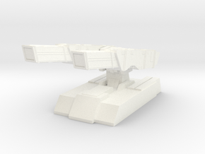 Twin barrel defensive cannons in White Processed Versatile Plastic