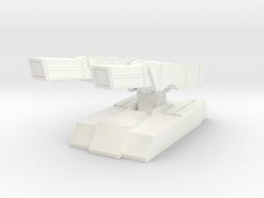 Twin barrel defensive cannons in White Processed Versatile Plastic