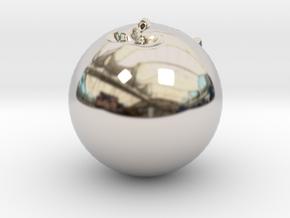 13930 in Rhodium Plated Brass