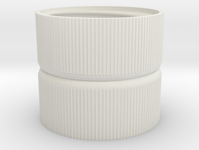 Water Rocket Coupling #shapebits in White Natural Versatile Plastic