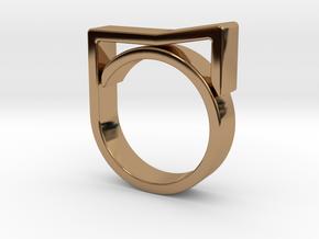 Adjustable ring for men. Model 8. in Polished Brass