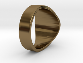 Nuperball Raven Ring Season 1 in Polished Bronze